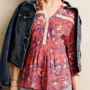 Anthropology floral top